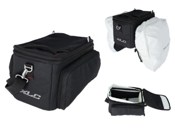 XLC Gepäckträgertasche 5:1 BA-M01 schwarz, 32x24x19/28cm