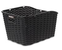 Hinterradkorb Basil Weave WP 35x26x24cm, schwarz, kunststoffgeflecht