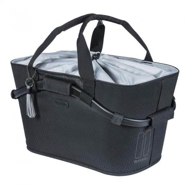 City-Tasche Basil Noir Carry All Rear MIK midnight black, abnehmbar,50x28x27cm