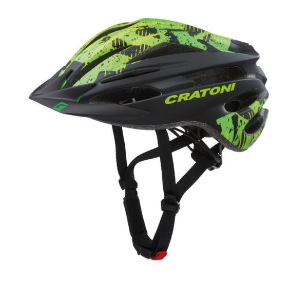 Fahrradhelm Cratoni Pacer (MTB) Gr. S/M (54-58cm) schwarz/lime matt