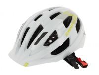Fahrradhelm Cratoni Velo-X (City) Gr. M/L (56-60cm) weiß/lime glanz