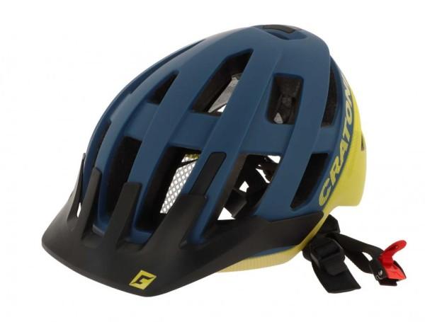 Fahrradhelm Cratoni AllRace (MTB) Gr. S/M (52-57cm) blau/gelb matt
