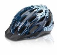 XLC Fahrradhelm BH-C20 Gr. S/M (53-57cm), blau Motiv 'Prism'
