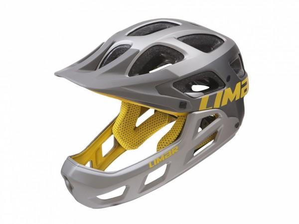 Fahrradhelm Limar Alpe mattgrau/gelb unisize (54-60cm)