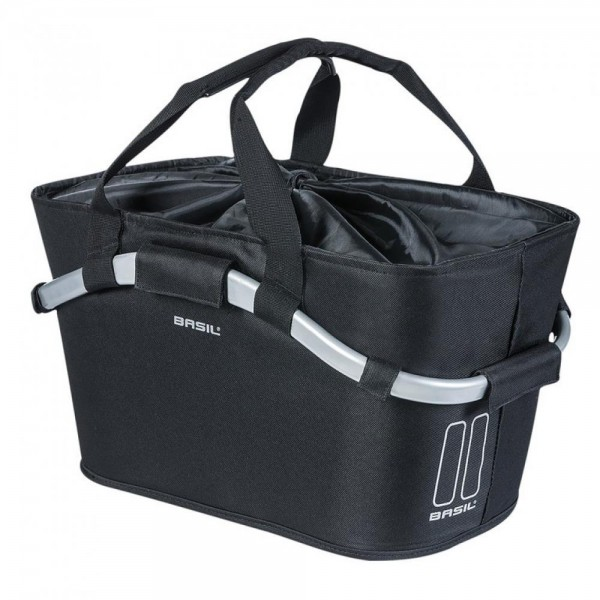 City-Tasche Basil Classic CarryAll Rear 2Day MIK schwarz, abnehmbar, 50x28x27cm