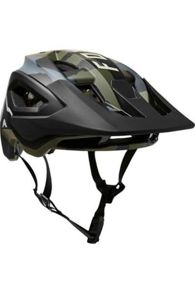 FOX SPEEDFRAME PRO HELMET, CE Trail Helm - green camouflage - Größe S