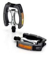 XLC City-/Comfort-Pedal PD-C07 Alu Kunststoffummantel schw./silber/grau