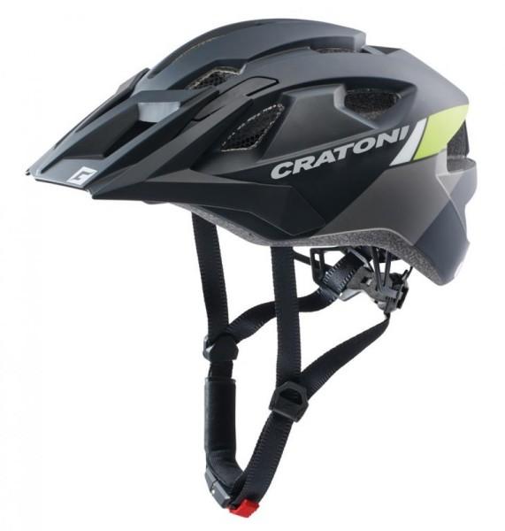 Fahrradhelm Cratoni AllRide (MTB) Gr. Uni (53-59cm) schwarz/lime matt