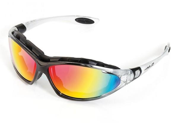 XLC Sonnenbrille Reunion  SG-F05 Rahmen transparent Gläser rot verspieg.