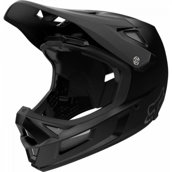FOX RAMPAGE COMP HELMET Full Face Schutz Helm - black matt - Größe S