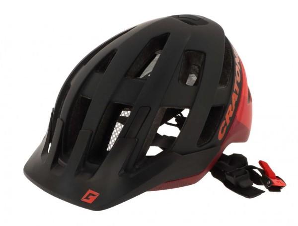Fahrradhelm Cratoni AllRace (MTB) Gr. S/M (52-57cm) schwarz/rot matt
