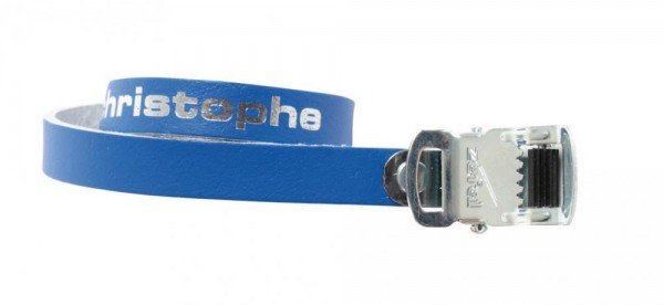Pedalriemen Paar Zefal Christophe 516 blau, 370mm, Leder