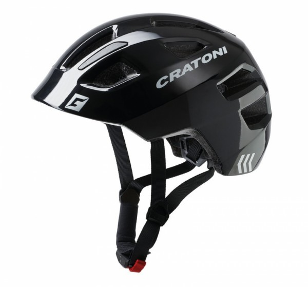 Fahrradhelm Cratoni Maxster (Kid) Gr. S/M (51-56cm) schwarz glanz