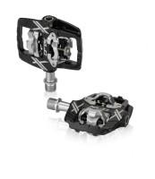 XLC System-Pedal PD-S19 zweiseitig schwarz/silber SPD-kompatibel