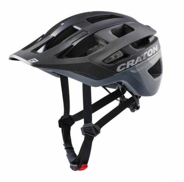 Fahrradhelm Cratoni AllRace (MTB) Gr. S/M (52-57cm) schwarz/grau matt