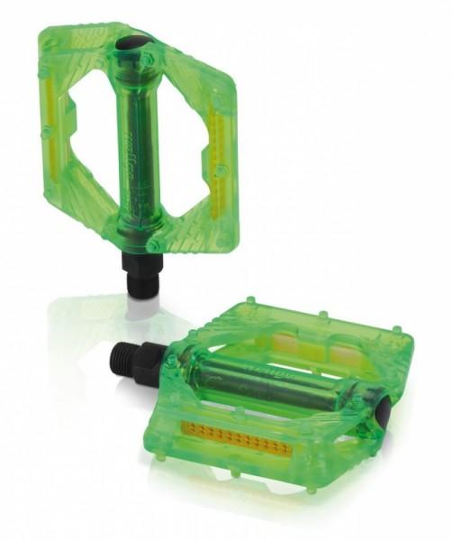 XLC Plattform-Pedal PD-M16 grün transparent