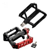 "Pedal Xpedo TRVS Lockster schwarz/rot, 9/16"", XCF10QRDB"