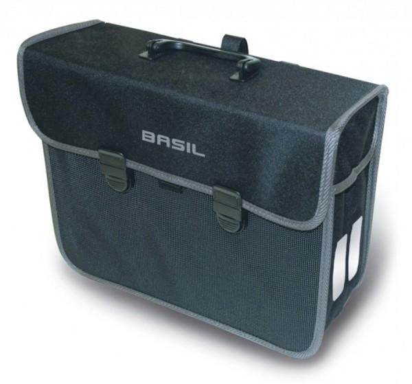 Einzelpacktasche Basil Malaga schwarz, 32x13x29cm, 13 ltr, Fahrrad
