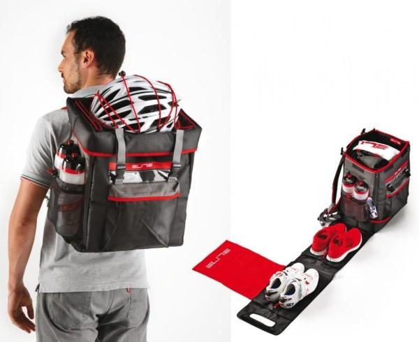 Tasche Elite Tri Box schwarz/rot, für Triathlon/Duathlon