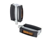 "XLC Universal Pedal Gummiblock schwarz, 9/16"",Reflektor"