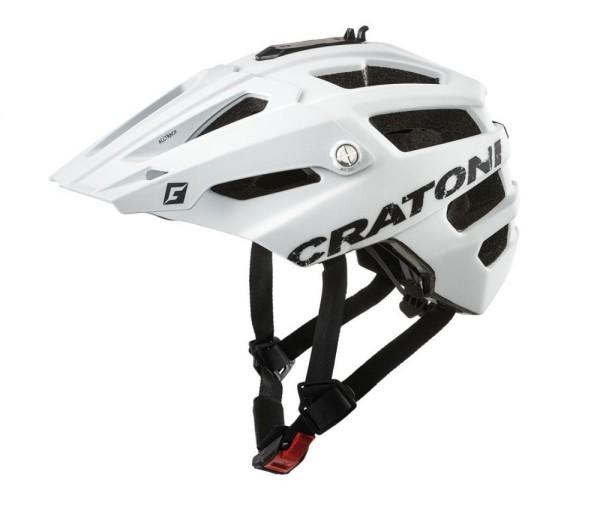 Fahrradhelm Cratoni AllTrack (MTB) Gr. M/L (58-61cm) weiß gummiert