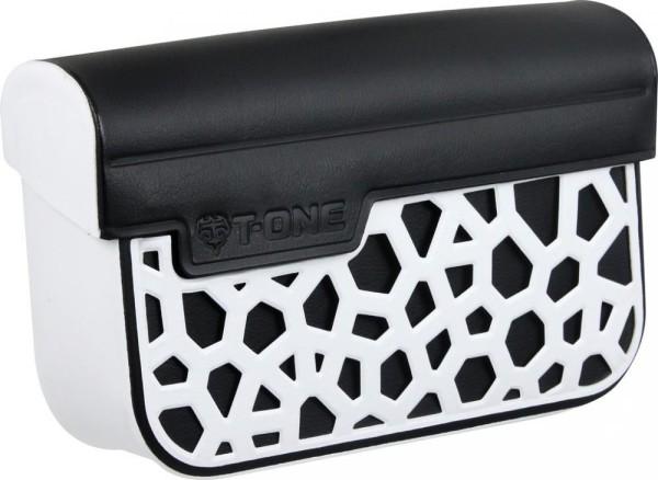 Vorbautasche T-One Dry Kunststoff, weiß/schwarz, 90x130x15mm