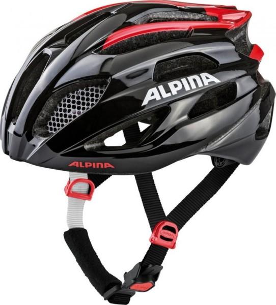 Fahrradhelm Alpina Fedaia black-red Gr.53-58cm