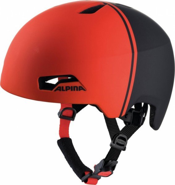 Fahrradhelm Alpina Hackney black-red Gr.47-51
