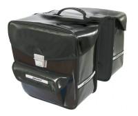 Doppeltasche Haberland Wasserabweisend schwarz, 32x34x16cm, 35 ltr