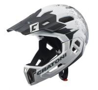 Fahrradhelm Cratoni C-Maniac 2.0MX (MTB) Gr. L/XL (58-61cm) weiß/schwarz matt