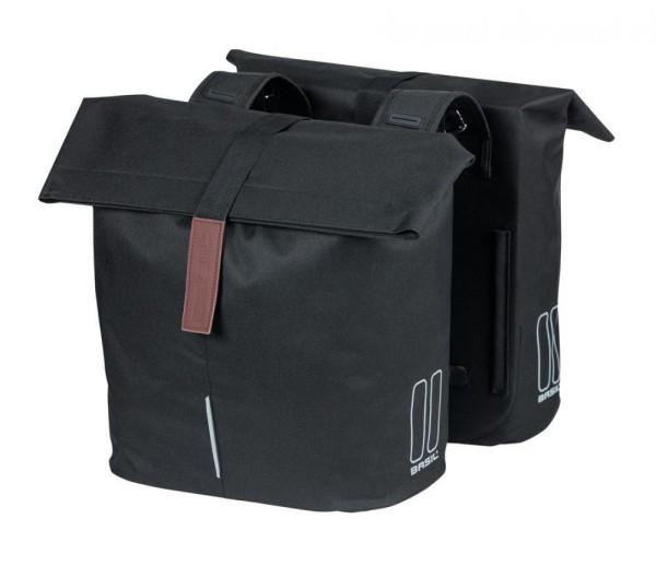 Doppelpacktasche Basil City schwarz, 30x18x49cm