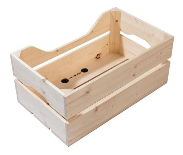 Holzbox Racktime Woodpacker natur, 49x24,1x29,5cm, 25ltr
