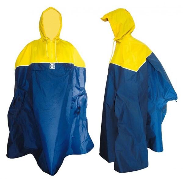 Regenponcho Hock Back-Pack gelb/marine Gr.L