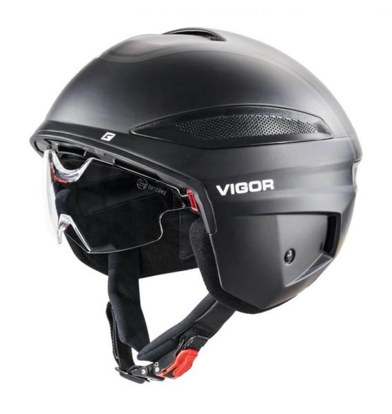 Fahrradhelm Cratoni Vigor (S-Pedelec) Gr. L (58-59cm) schwarz matt