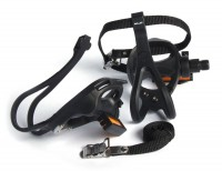XLC Road-Pedal PD-R01 einseitig, mit Haken und Riemen