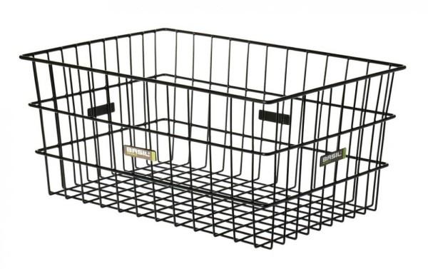 Hinterradkorb Basil Zembla 53X37x23 cm, schwarz, weitmaschig