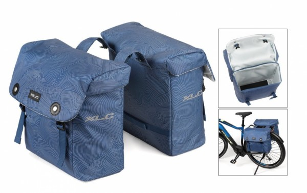 XLC Doppelpacktasche Luxus blau 'fingerprint'