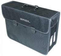Einzelpacktasche Basil Malaga XL schwarz,  40x14x31cm, 17 ltr, Fahrrad