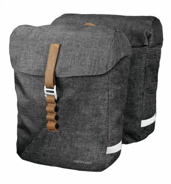 Racktime System Doppeltasche Heda grau, inkl. Snapit Adapter