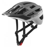 Fahrradhelm Cratoni AllRace (MTB) Gr. M/L (56-61cm) anthrazit/weiß matt