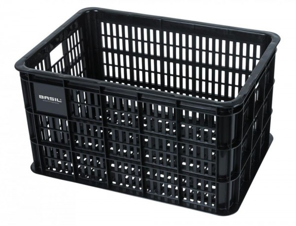 Fahrradkasten Basil Crate L 34,5x49x27cm, schwarz, Kunststoff, 50ltr