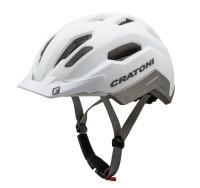 Fahrradhelm Cratoni C-Classic (City) Gr. L/XL (58-61cm) weiß/anthrazit matt