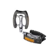 XLC City-/Comfort-Pedal PD-C14 Alu Kunststoffummantel schw./silber/grau