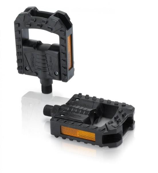 XLC Faltpedal PD-F01 Kunststoff, schwarz, Reflektor