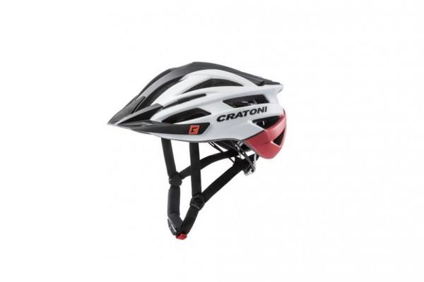 Fahrradhelm Cratoni Agravic (MTB) Gr. S/M (54-58cm) schwarz/weiß/rot matt