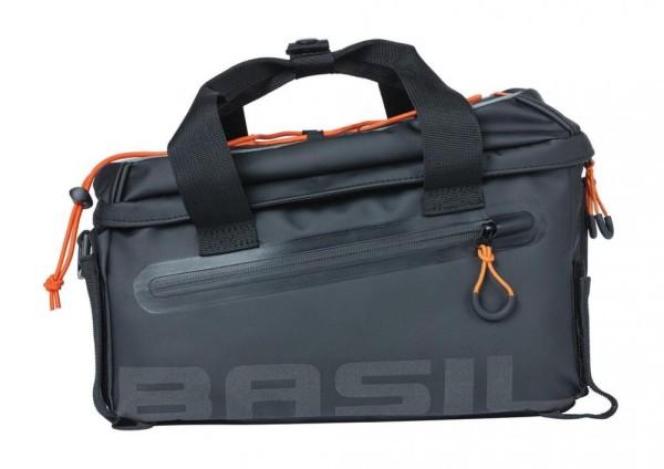 Gepäckträgertasche Basil Miles Tarpaulin schwarz/orange, 32x20x20,5cm