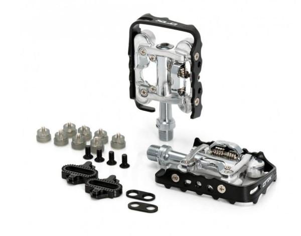XLC System-Pedal PD-S02 einseitig, schwarz/silber SPD-kompatibel