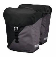 Racktime System Doppeltasche Vida schwarz/grau, inkl. Snapit Adapter