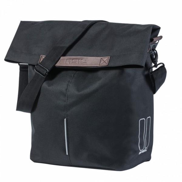 Shoppertasche Basil City schwarz,14-16ltr Hook On-System,30x18x49
