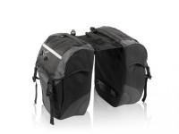 XLC Doppelpacktasche BA-S41 schwarz/anthrazit, 29x14x34cm, 30 ltr